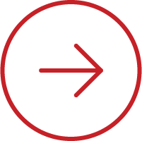 Line art image of an arrow pointing forward in a circle